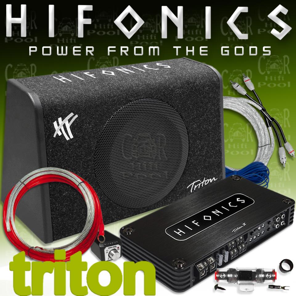 Details zu Hifonics Triton TBP800 4 Basspack - Auto Hifi Endstufe Subwoofer  Kabelset 800 W