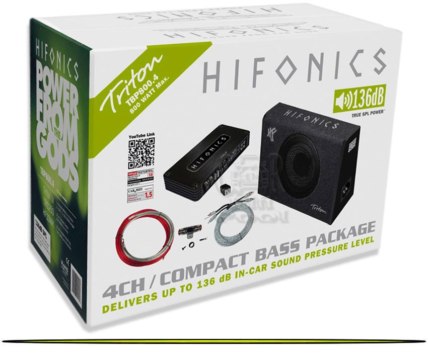 hifonics triton tbp800 4 basspack endstufe. Black Bedroom Furniture Sets. Home Design Ideas